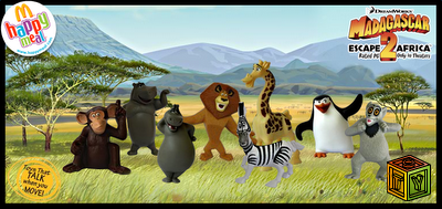 Игрушки Мадагаскар в McDonald`s