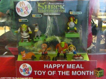 Игрушки Шрек в Happy Meal
