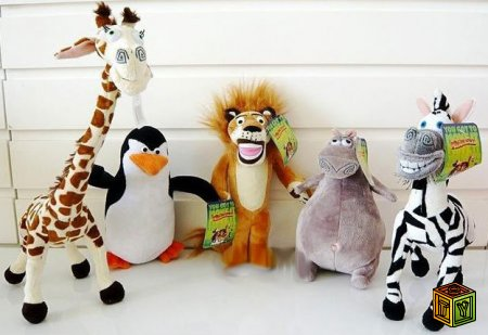 Мягкие игрушки Мадагаскар