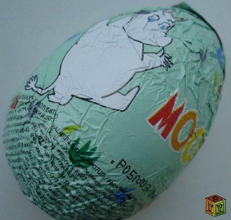 Муми-тролли шоколадных яйцах