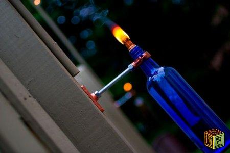 Как сделать факел из бутылки своими